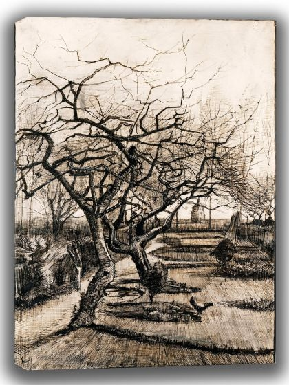 Van Gogh, Vincent: The Parsonage Garden at Nuenen in Winter. Fine Art Canvas. Sizes: A4/A3/A2/A1 (004064)